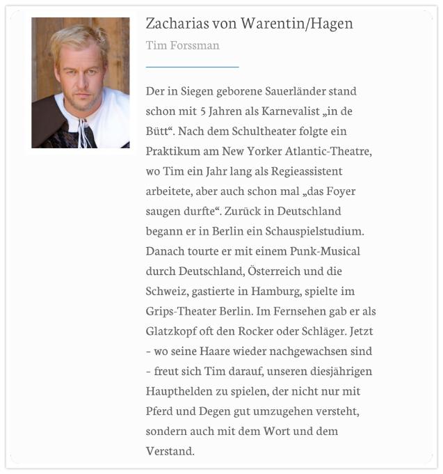 Tim Forssman | Zacharias von Warentin
